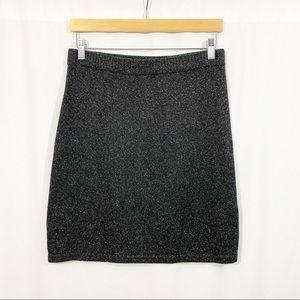 J. Jill Alyssa Sweater Skirt in Specked Charcoal